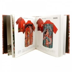 Limited Edition Hardback Aloha Project Image Book with Cover Bound in Orange Rayon Hawaiian Shirt Fabric SS01881