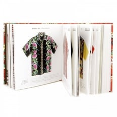 Limited Edition Hardback Aloha Project Image Book with Cover Bound in Red F/Rayon Hawaiian Shirt Fabric SS01881