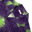 SUN SURF Navy Blue Fireworks Print Regular Fit Cuban Collar Short Sleeve Hawaiian Shirt SS33320