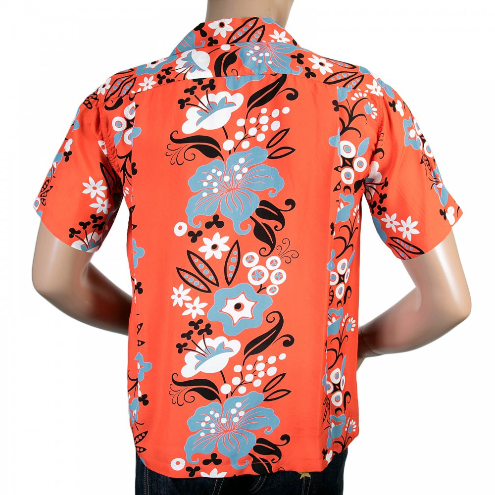 Red hawaiian floral print shirt by sunsurf and stay comfortable sun surf regular fit short sleeve red rayon with blue black and white elsie mightylinksfo