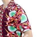 SUN SURF Wine Rayon Short Sleeve SS37793 Regular Fit Mens Hawaiian Shirt with Aloha Bombax Tree Print