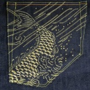 THE YEAR OF Gold Embroidered Raw Denim