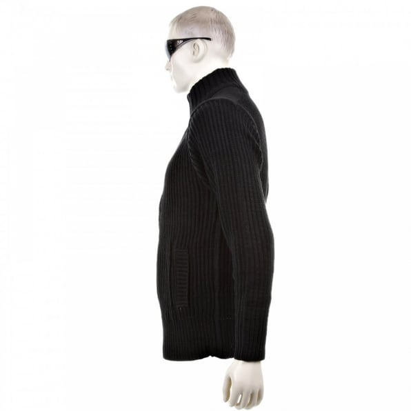 THUG OR ANGEL Black Long Sleeve Regular Fit Full Zipped Cardigan with Applique Shoulder Patch