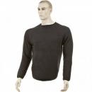 THUG OR ANGEL Charcoal Crew Neck Raglan Sleeve Regular Fit Knitted Jumper