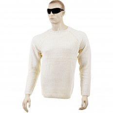 Cream Crew Neck Raglan Sleeve Regular Fit Knitted Jumper