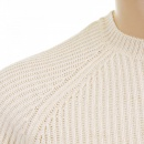 THUG OR ANGEL Cream Crew Neck Raglan Sleeve Regular Fit Knitted Jumper