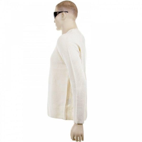 THUG OR ANGEL Cream Crew Neck Raglan Sleeve Regular Fit Knitted Jumper