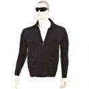 THUG OR ANGEL Navy Shawl Collar Long Sleeve Regular Fit Zip up Knitted Cardigan