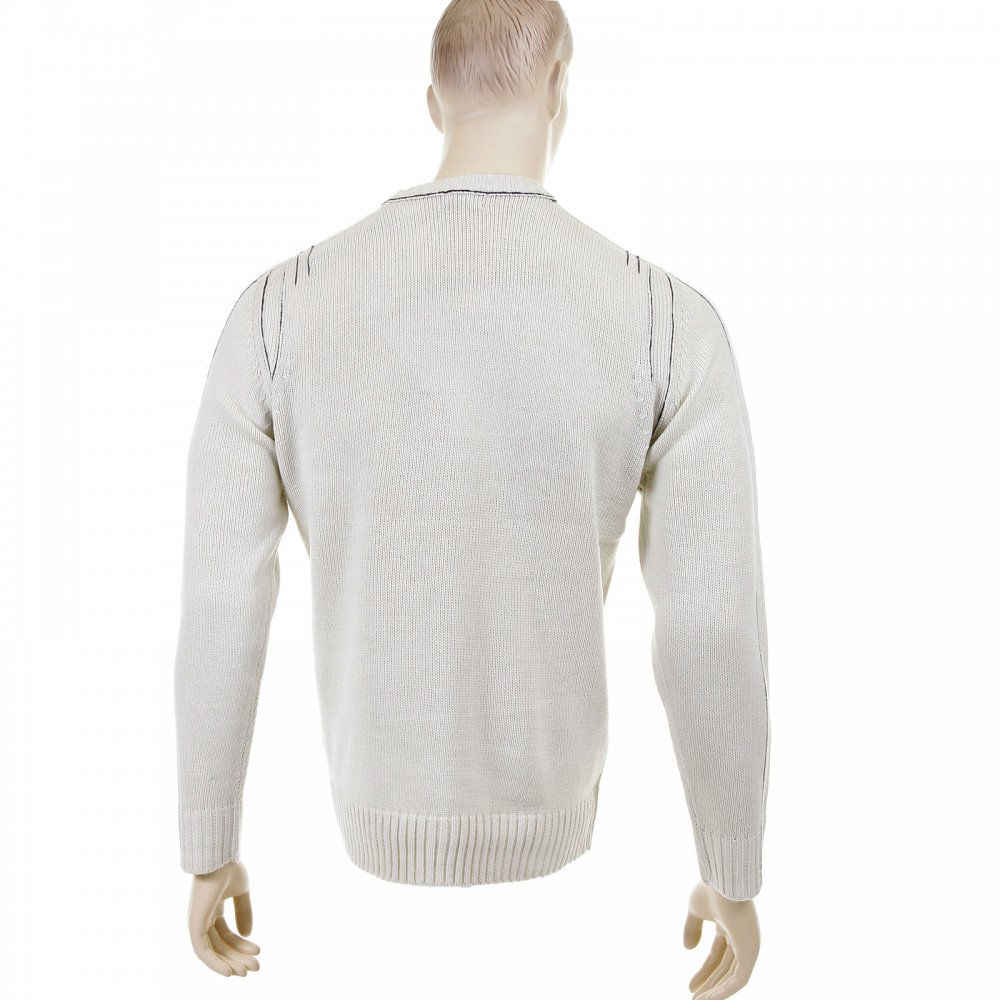 Putty Coloured Crew Neck Jumpers For Men By Thug Angel
