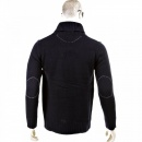 THUG OR ANGEL Regular Fit Navy Button up Shawl Collar Knitted Cardigan