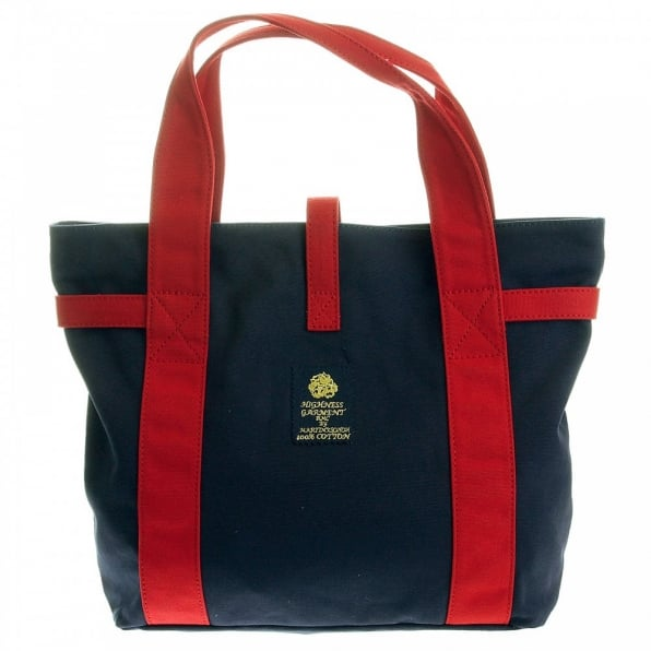RMC MKWS Unisex Navy Canvas with Red Canvas Handles and Trim Hand Carry Bag