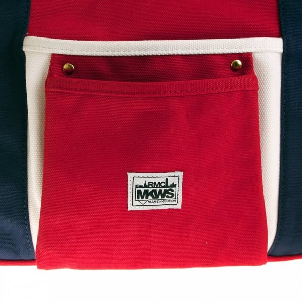 RMC MKWS Unisex Red Canvas with Navy Canvas Handles and Trim Hand Carry Bag