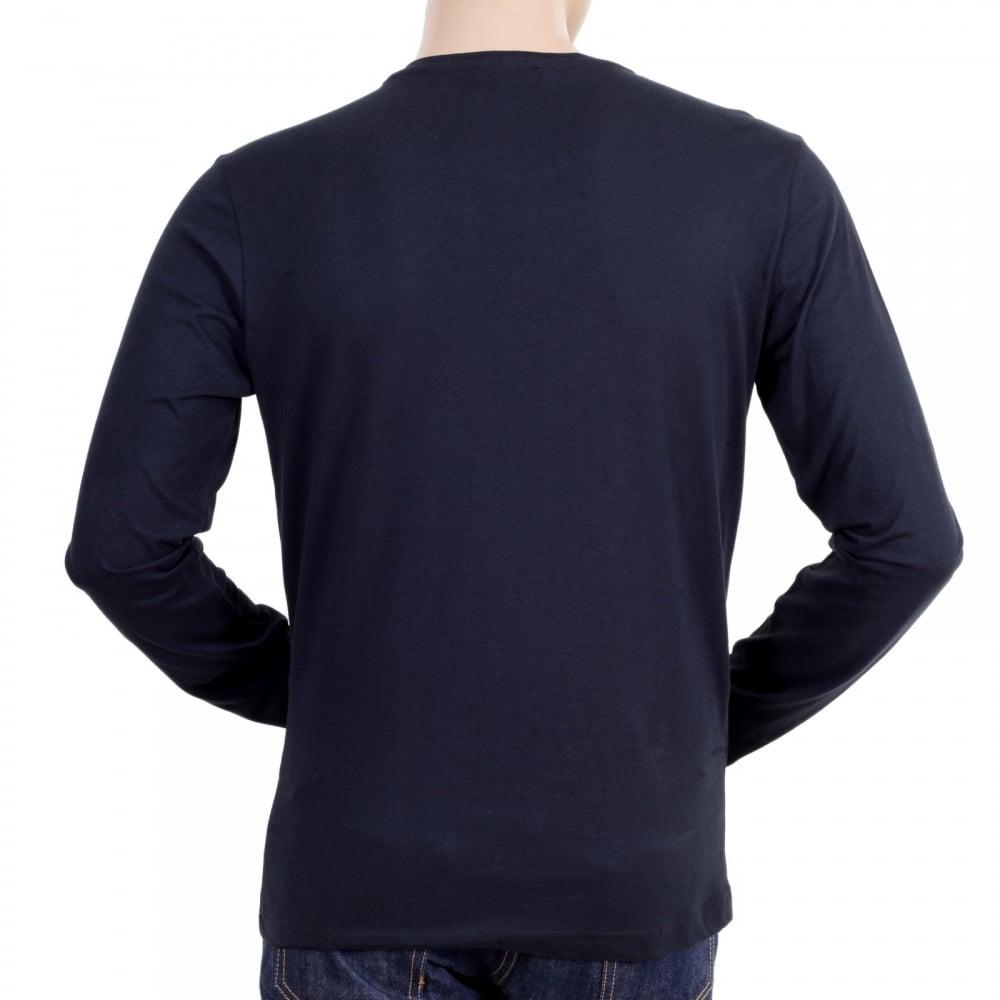 Black t shirt back and front plain -  Versace Black Printed Art Logo Front Crew Neck Plain Black Long Sleeve Regular Fit T Shirt