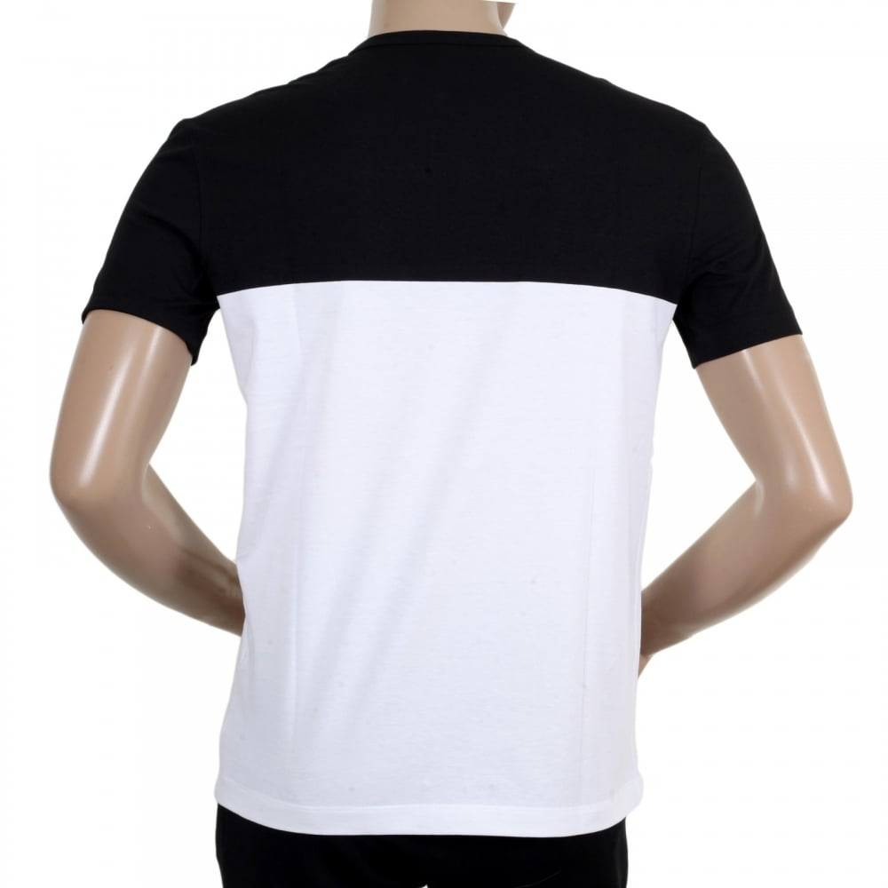 Shop for regular fit short sleeved t shirt from versace for Black and white short sleeve shirts