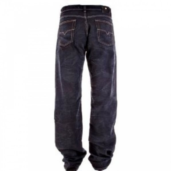 VERSACE Dark Indigo Loose Fit Straight Leg Denim Jeans