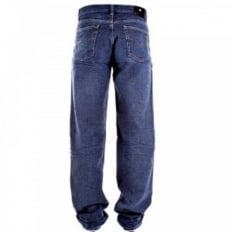 Indigo Blue Classic Fit Straight Leg Denim Jeans