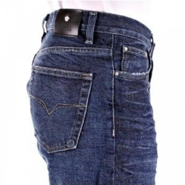 VERSACE JEANS Indigo Blue Classic Fit Straight Leg Denim Jeans