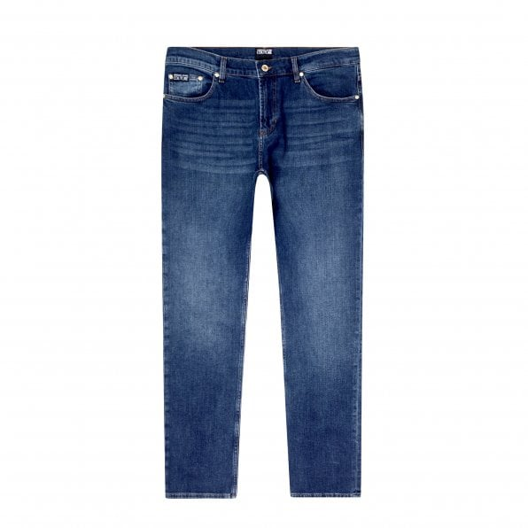 VERSACE JEANS COUTURE Mens Blue New Slim Fit Stretch Jeans