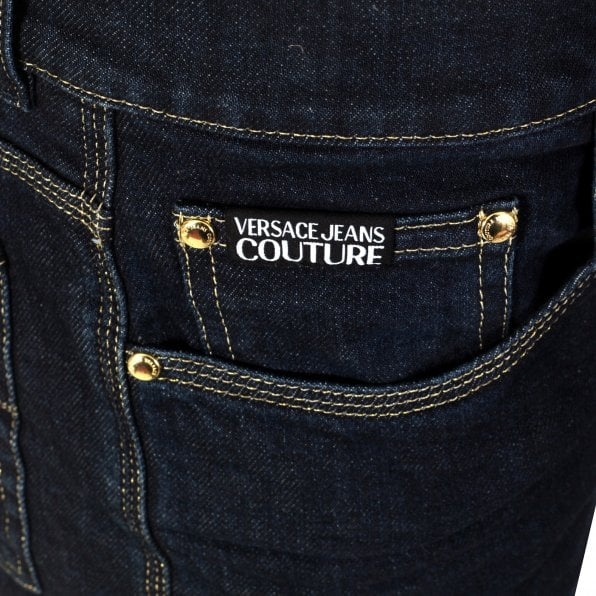 VERSACE JEANS COUTURE Mens Dark Indogo New Slim Fit Stretch Jeans