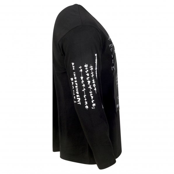 VERSACE JEANS COUTURE Versace Mens Logo Certificate Long Sleeve Black T Shirt