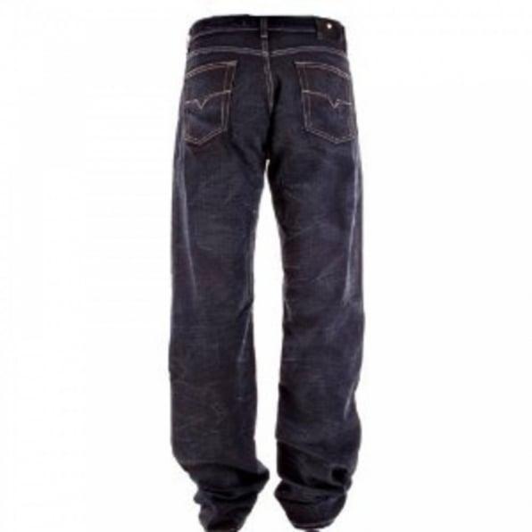 VERSACE JEANS Dark Indigo Loose Fit Straight Leg Denim Jeans