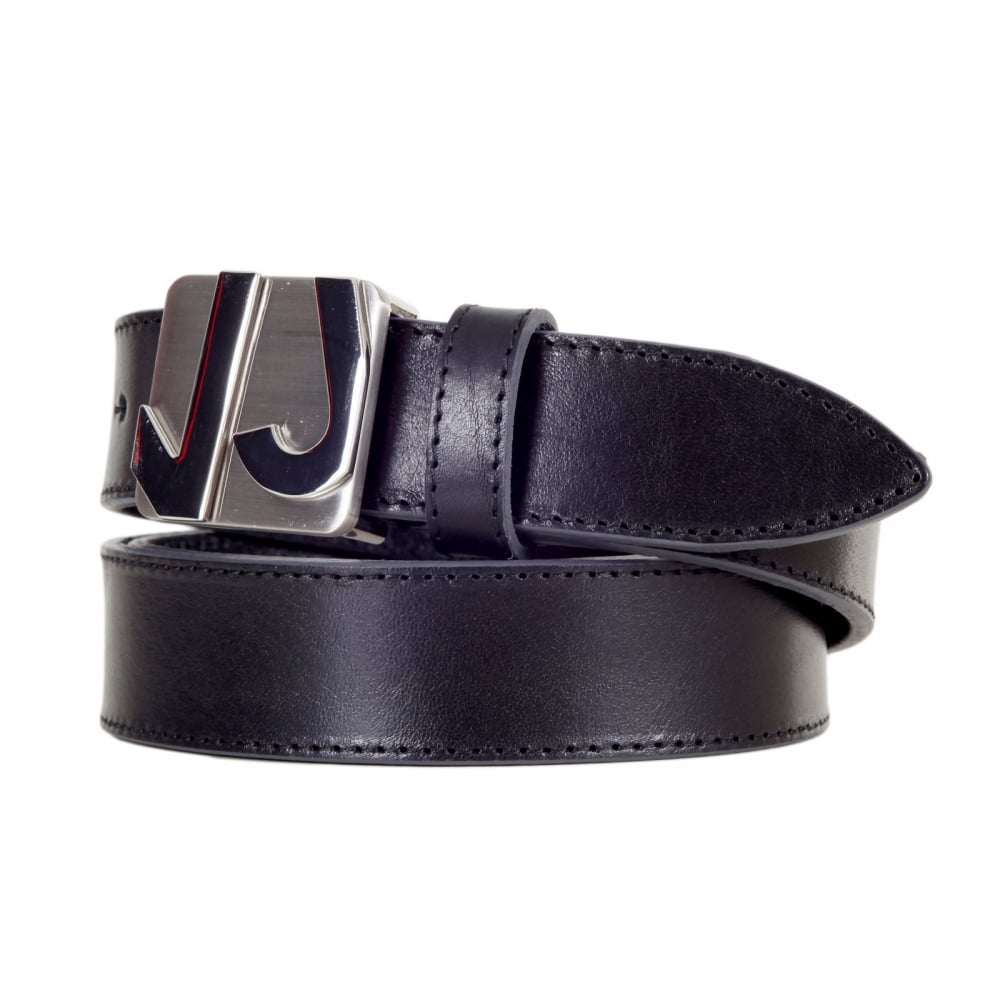 Black Quality Leather Belts For Men By Versace Jeans