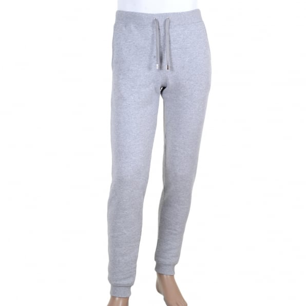VERSACE Mens 100% Cotton Grey Jogging Bottoms with Ribbed Waistband and Ankle