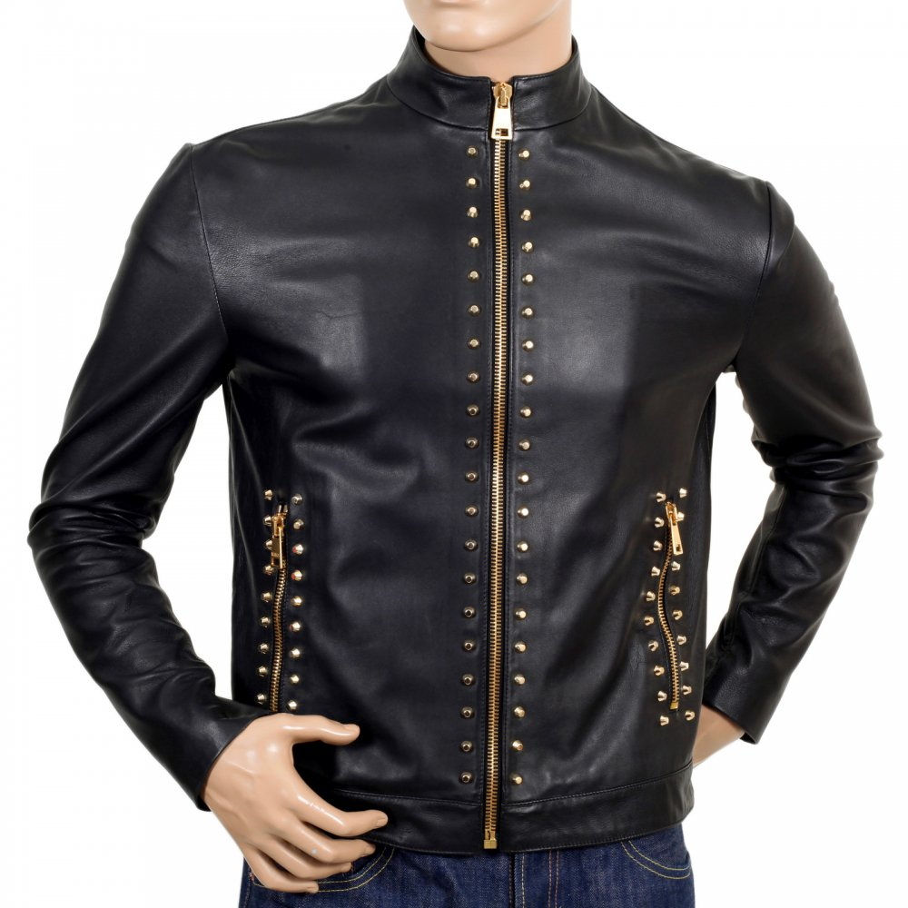 43f74187 Shop for Leather Zip Jacket from Versace Clothing Today