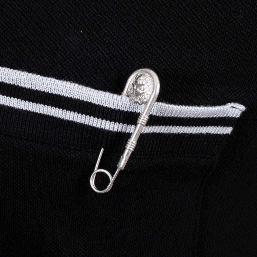 versace polo silver