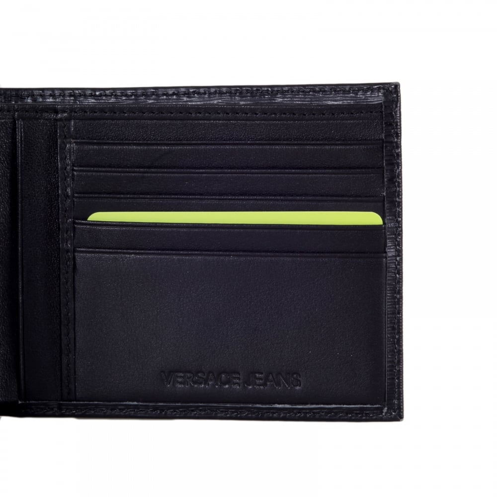 versace men's genuine leather wallet credit card bifold new black see more like this VERSACE MENS EMBOSSED KEY LEATHER WALLET NEW IN BOX % GENUINE Brand New.