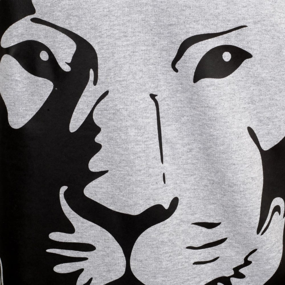 Printed Loin Head Grey Sweatshirts For Men By Versace Clothing