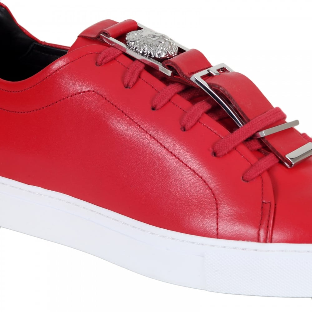 Shop Versace Red Sneakers