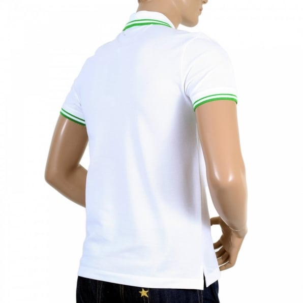 VERSACE Mens Regular Fit Short Sleeve Polo Shirt in White