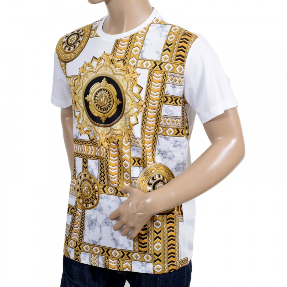 gold versace t shirt