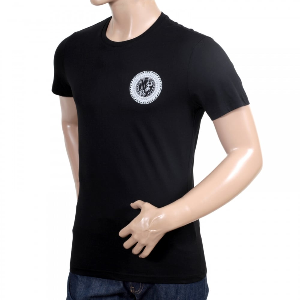 Slim fit logo printed t shirt from versace buy now for How to make a printed shirt