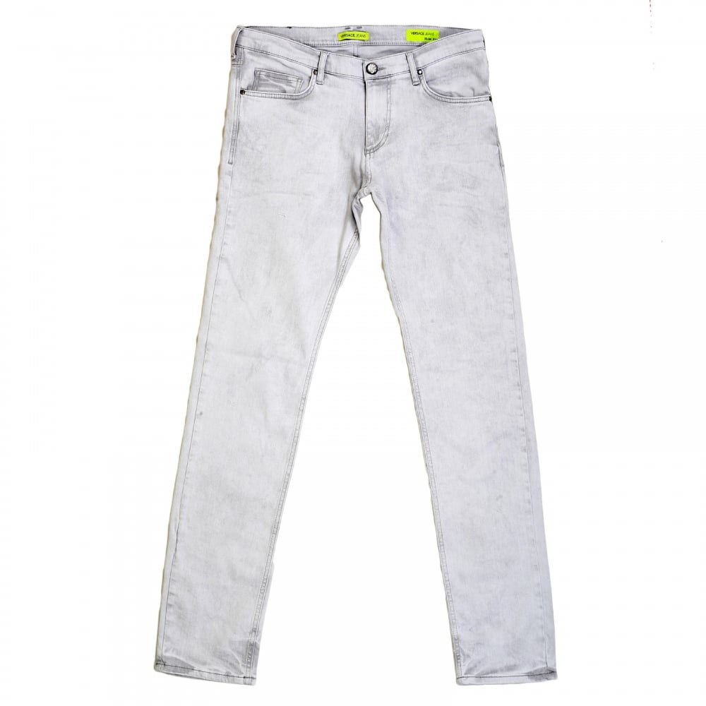 934e8bb3 Light Grey Slim Fit Jeans from Versace at Niro Fashion