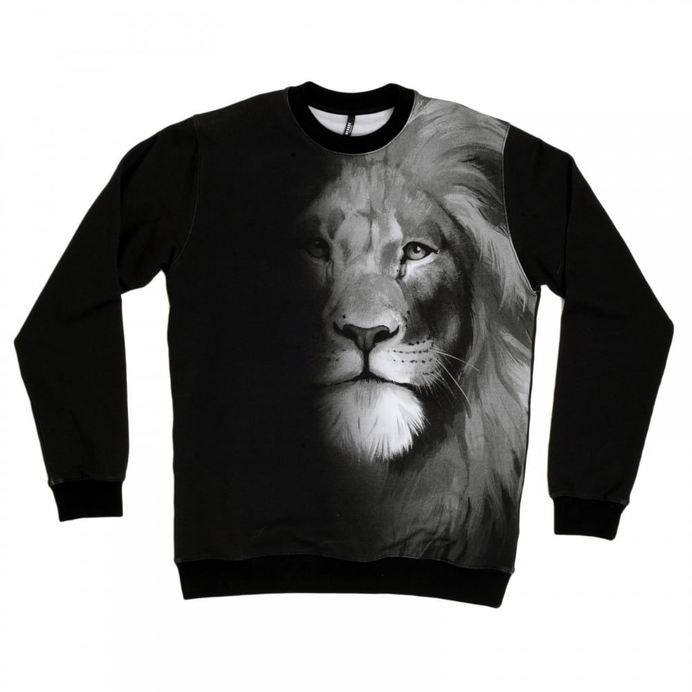 Black Sweatshirts For Men With Photo Print By Versace