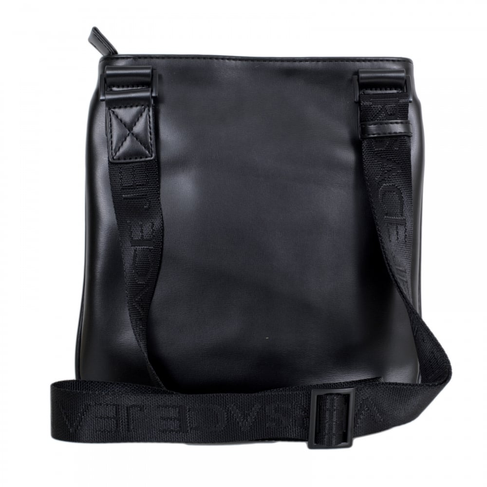 10724c0657df ... VERSACE JEANS Nastro Logato E1YOBB32 Logo Front Panel Bag in Black with Front  Pocket and Top ...