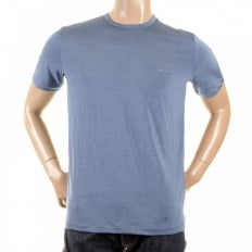Pale Blue Short Sleeve Regular Fit Stretch Crew Neck T-Shirt
