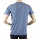 VERSACE JEANS Pale Blue Short Sleeve Regular Fit Stretch Crew Neck T-Shirt