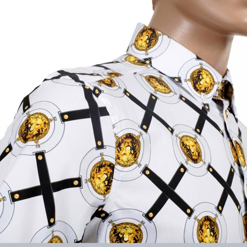 Mens Versace Button Down Shirt