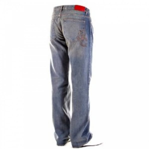VERSACE JEANS Stonewash Vintage Finish Regular Fit Denim Jeans
