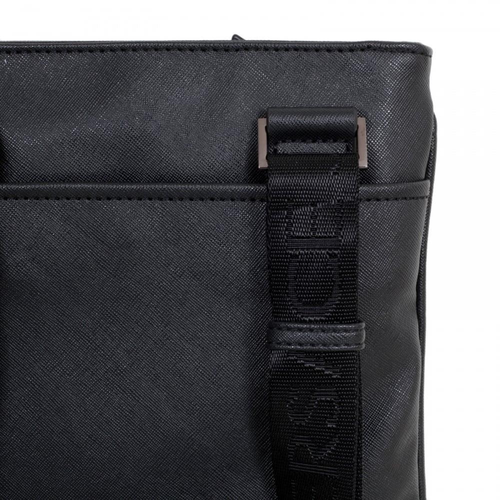 1efcff380816 VERSACE JEANS Tiger Eyelet Gunmetal Grey Logo E1YOBB44 Black Bag for Men  with Top Zip Closure ...