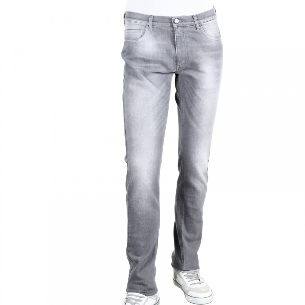 faded slim-fit jeans - Grey Versace XmOou6F