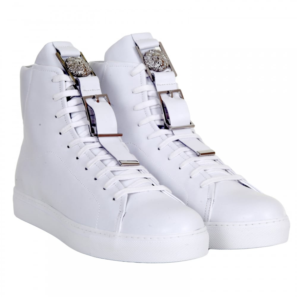 Leather Trainers from Versace