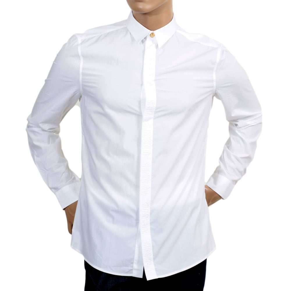 White Long Sleeve Shirt from Versace Jeans. Shop Now!