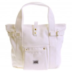 Versatile Unisex White Canvas Hand Carry Bag