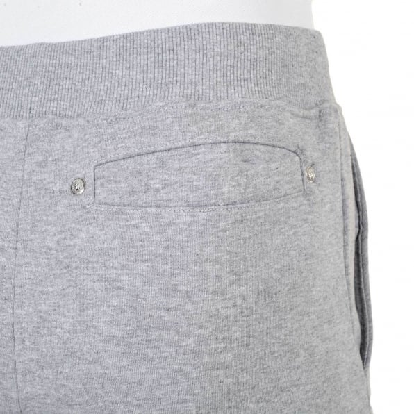 VERSUS VERSACE Mens 100% Cotton Grey Jogging Bottoms with Ribbed Waistband and Ankle