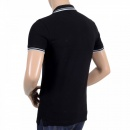 VERSUS VERSACE Mens Black Piquet Short Sleeve Polo Shirt