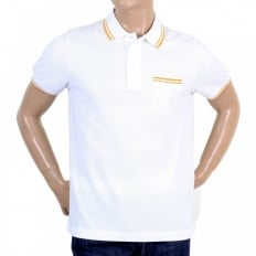 Mens Regular Fit Short Sleeve Cotton Polo Shirt in White